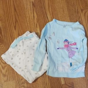 Girl's Carter's winter fleece pajama  3t